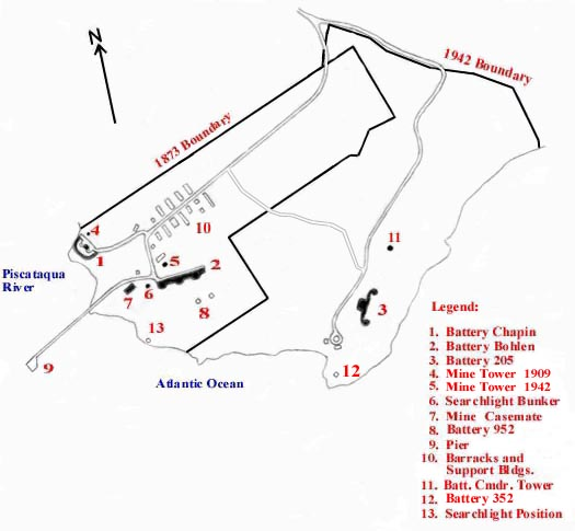 Fort Foster map