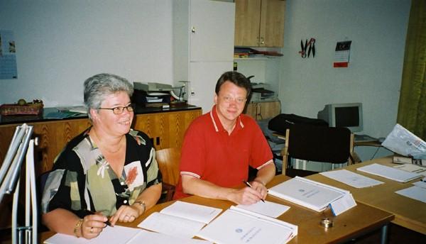 två kursdeltagare