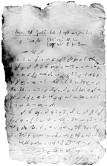 Ett av Nils Strindbergs stenografiska brev